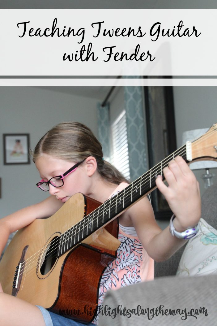 teaching tweens guitar with fender play