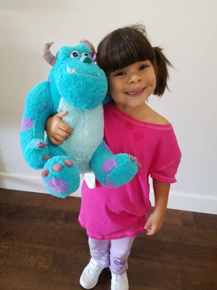Boo from Monsters Inc Easy DIY costume