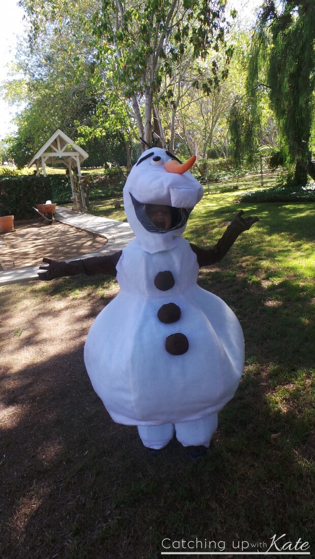 Our DIY Olaf Costume