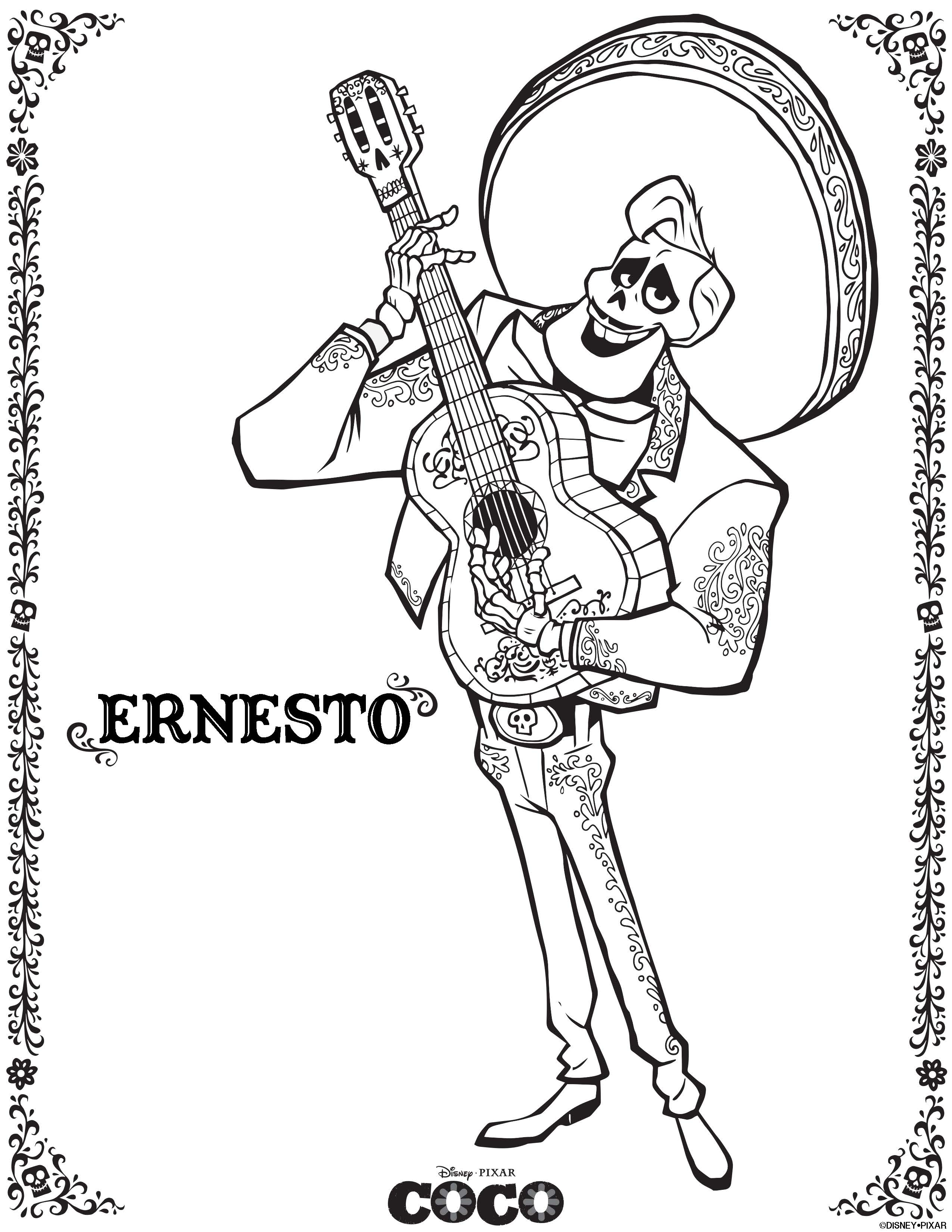 Disney Coco coloring sheet