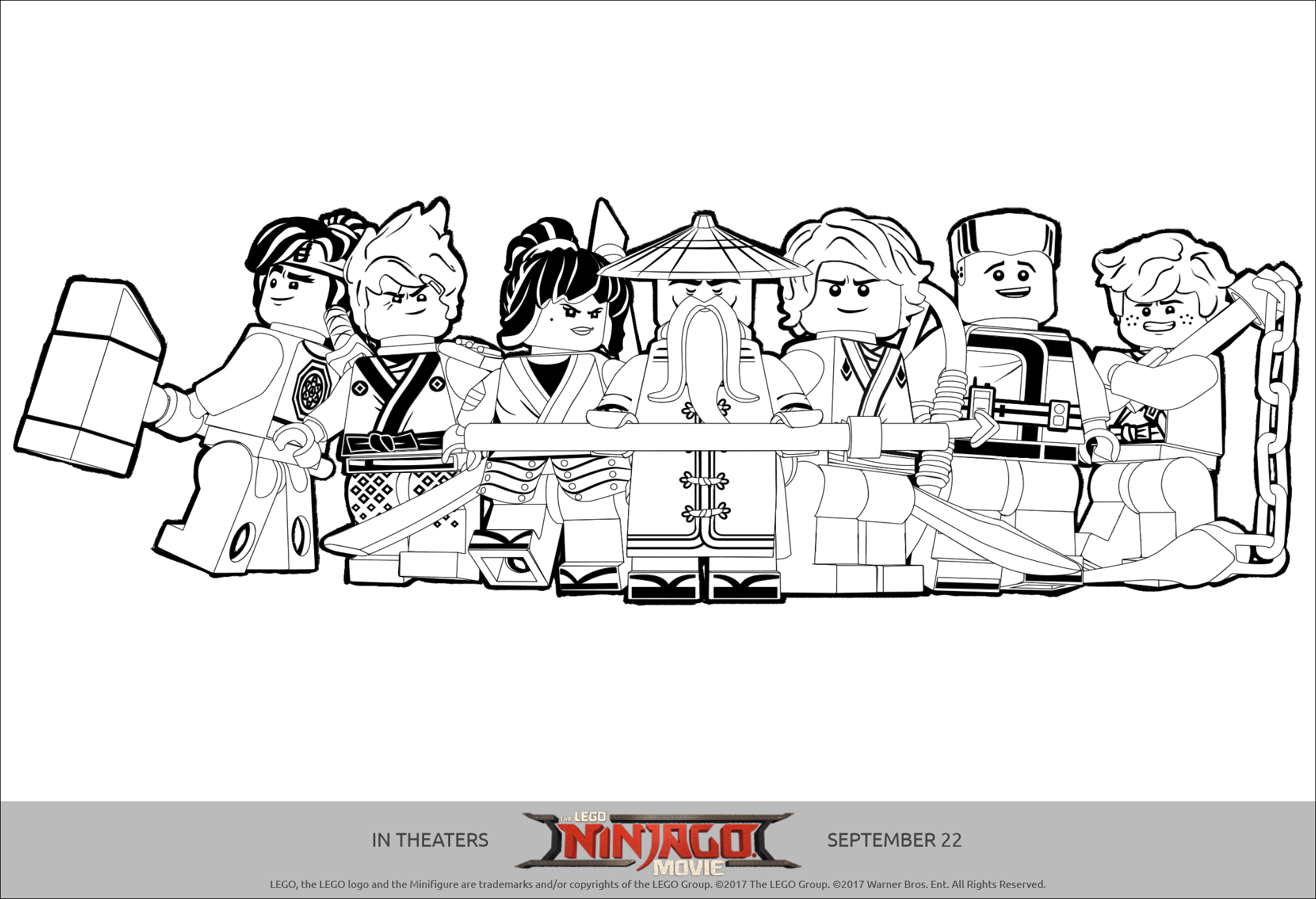 lego ninjago printables coloring pages and activity sheets - Lego Movie Coloring Page