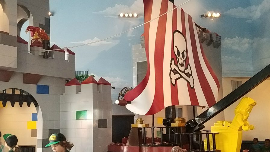 Pirate Ship in the lobby of the LEGOLAND hotel is California