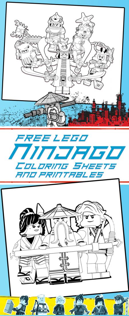 LEGO NINJAGO Printables, coloring pages and activity sheets!