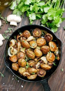 Balsamic Shallot Mushrooms