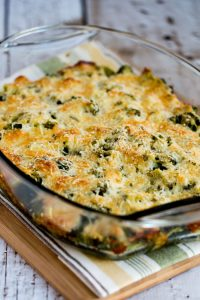 Broccoli Gratin with Swiss and Parmesan