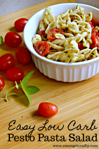 Easy Low Carb Pesto Pasta Salad
