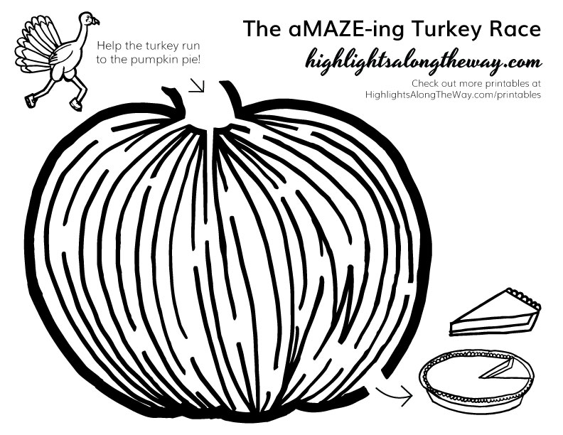 Thanksgiving maze printable