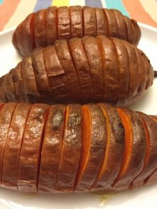 Hasselback (Accordion) Baked Sweet Potatoes Recipe (Paleo)
