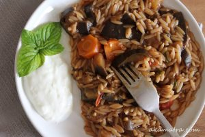 Orzo with Eggplants