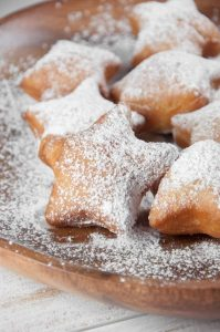 Powdered Sugar Snow Star Donuts