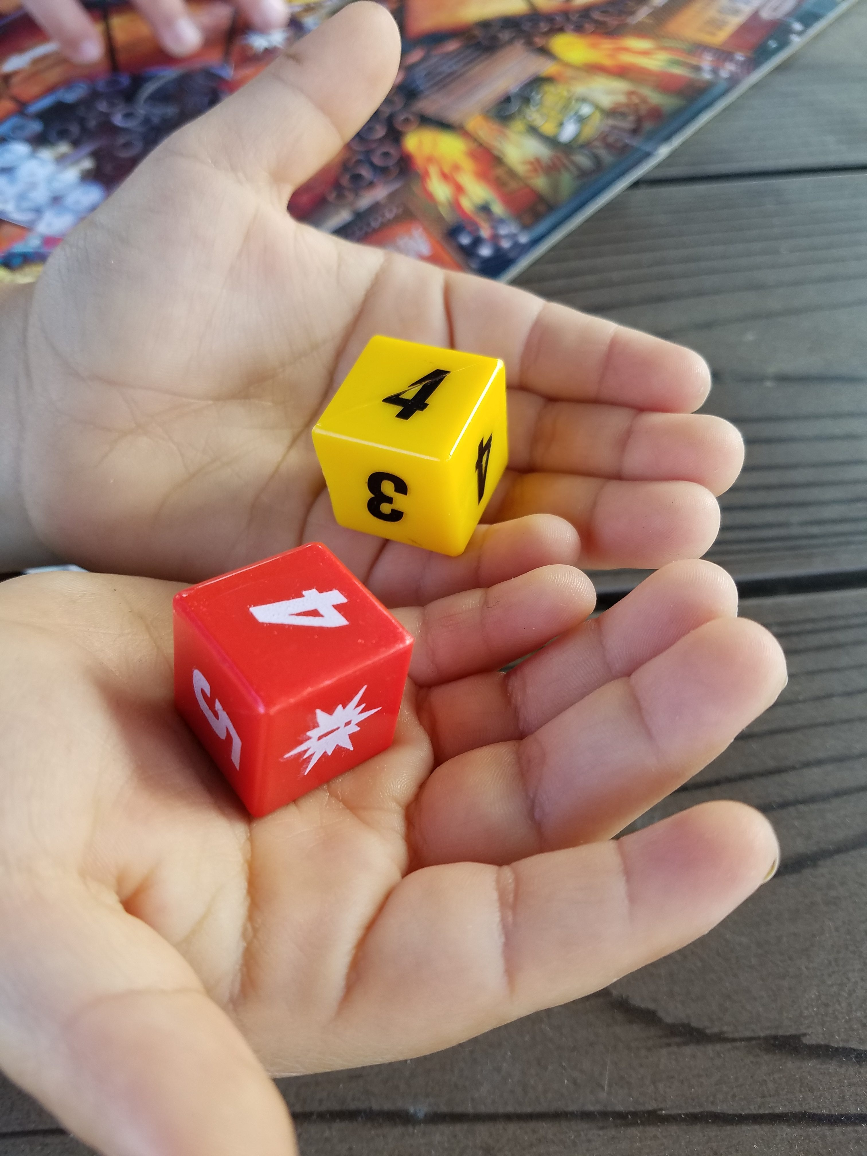 red yellow die