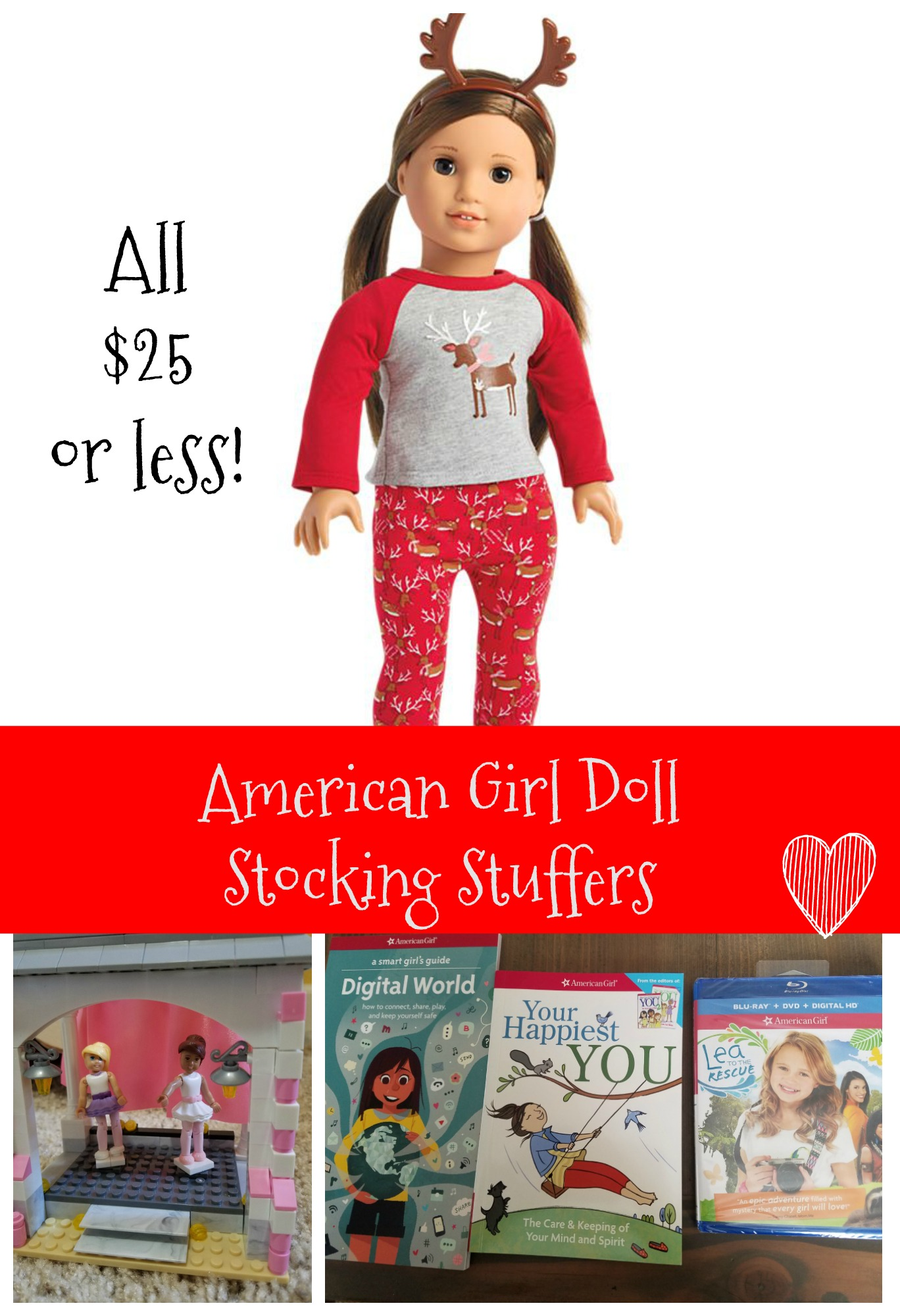 American Girl Doll Stocking STuffer ideas for under $25
