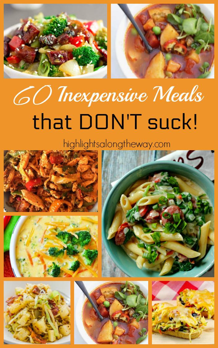 Inexpensive Meals Collage
