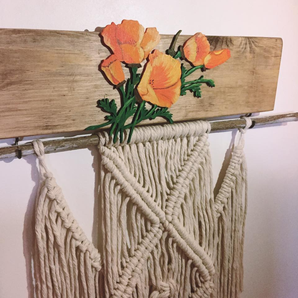 macrame and flowers ideas