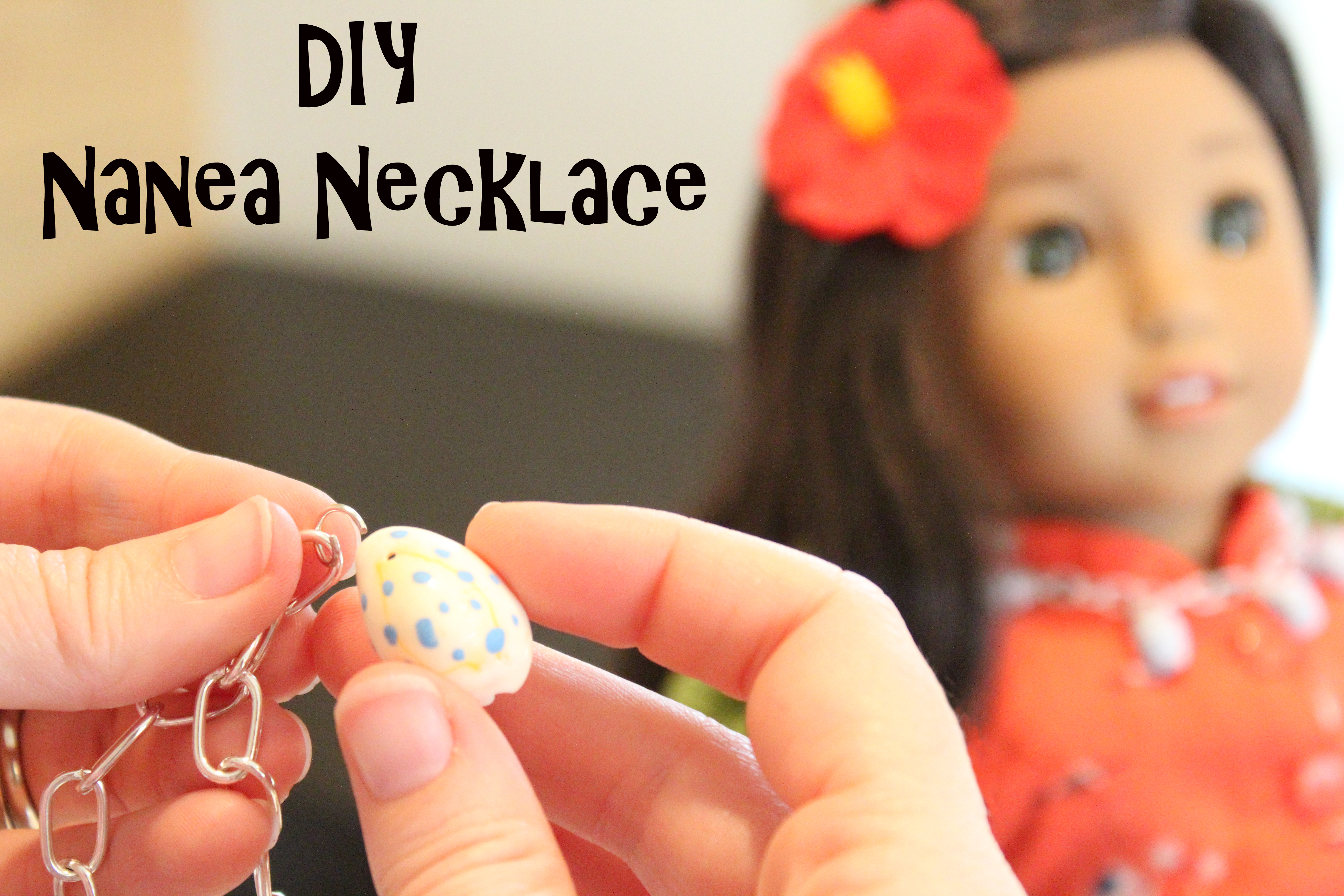 Diy Nanea Necklace Easy Craft Inspired By American Girl Doll