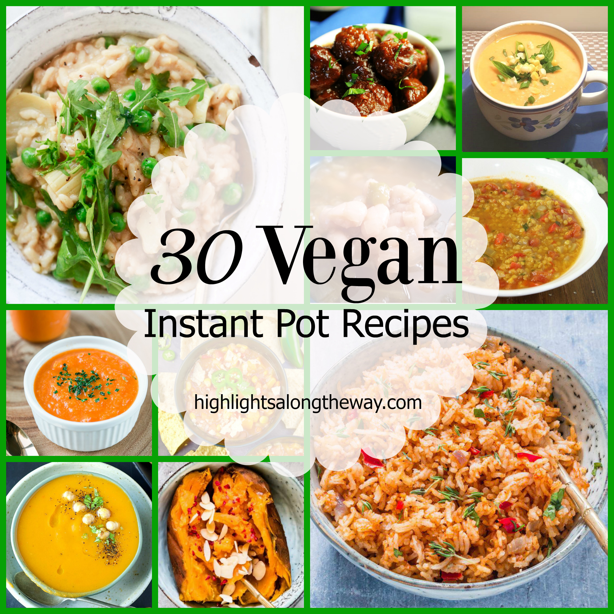 instant pot vegan recipe round up
