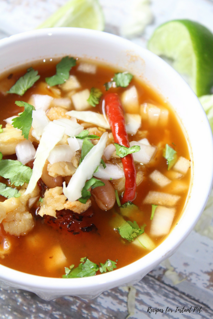 Vegetarian Posole with Beans and Hominy