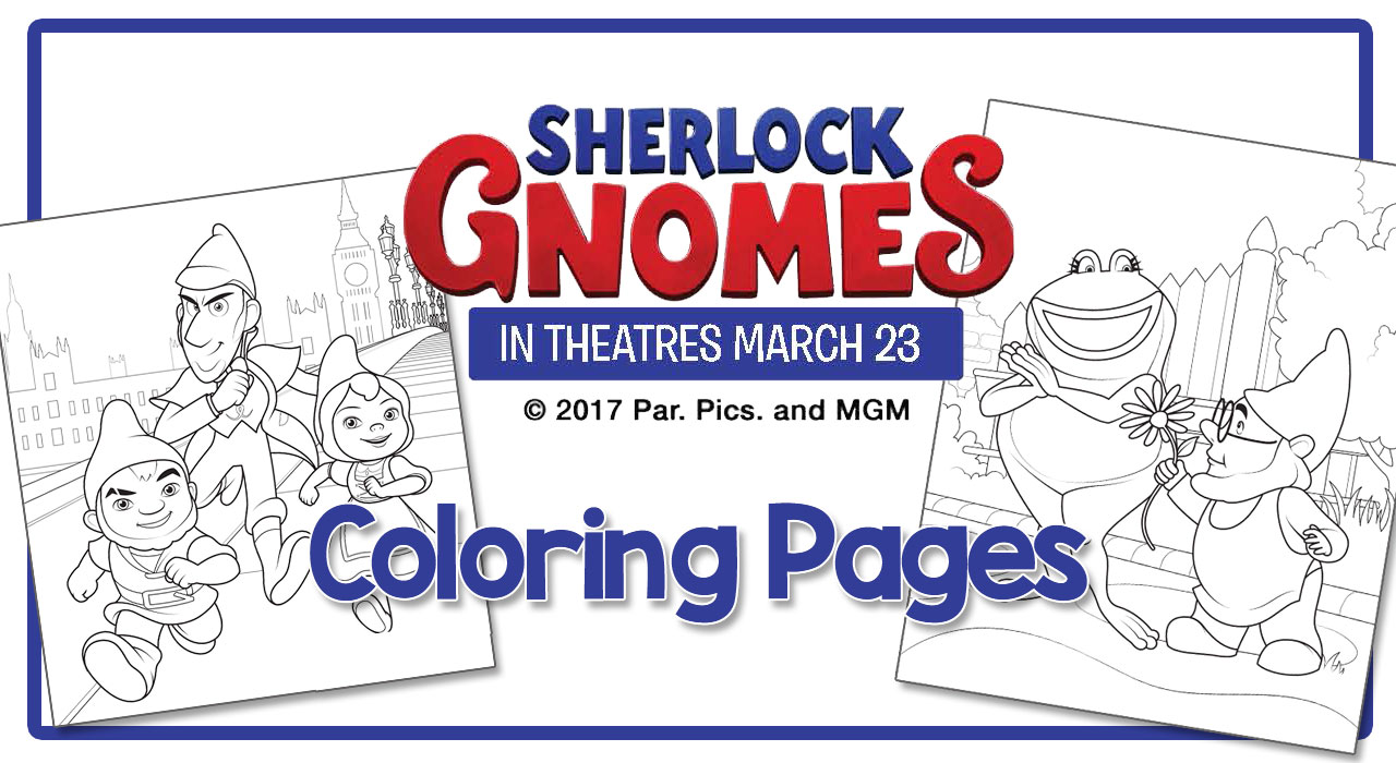 Free Printable Coloring Sheets From Sherlock Gnomes