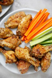 Honey Mustard Chicken Wings (Instant Pot or Baked)