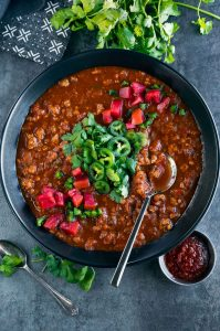 Spicy Harissa Turkey Chili