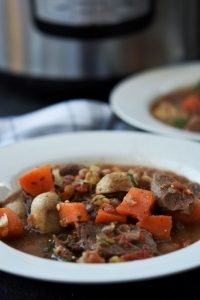 Spicy Instant Pot Beef and Lentil Stew