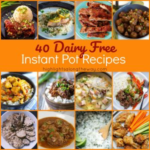 Dairy Free Instant Pot Recipes