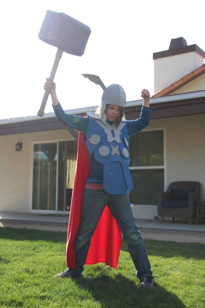 no sew diy Thor costume