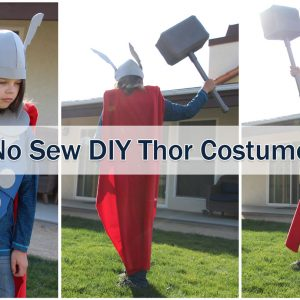 no sew Thor costume