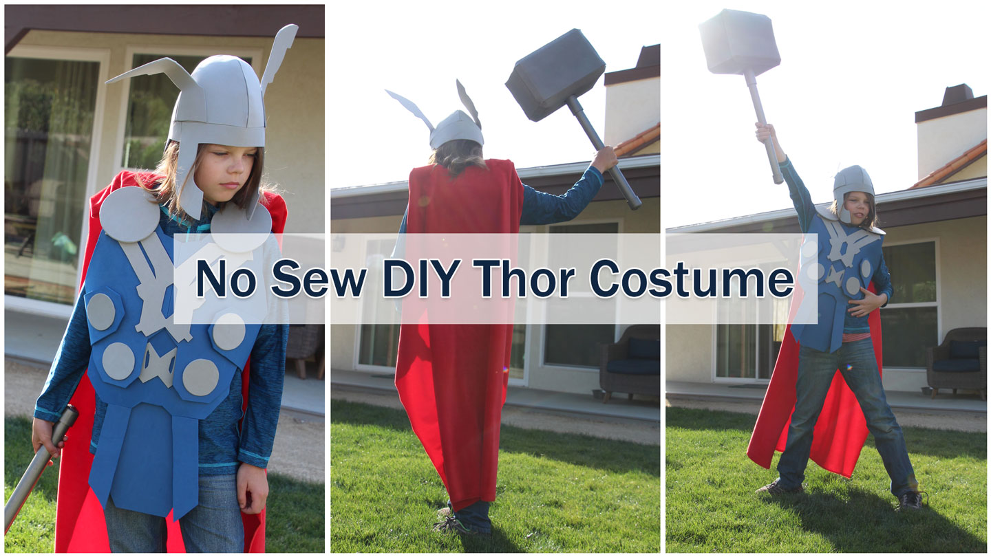 bf4a588f42ed NO Sew DIY Thor Costume that you can make right now!