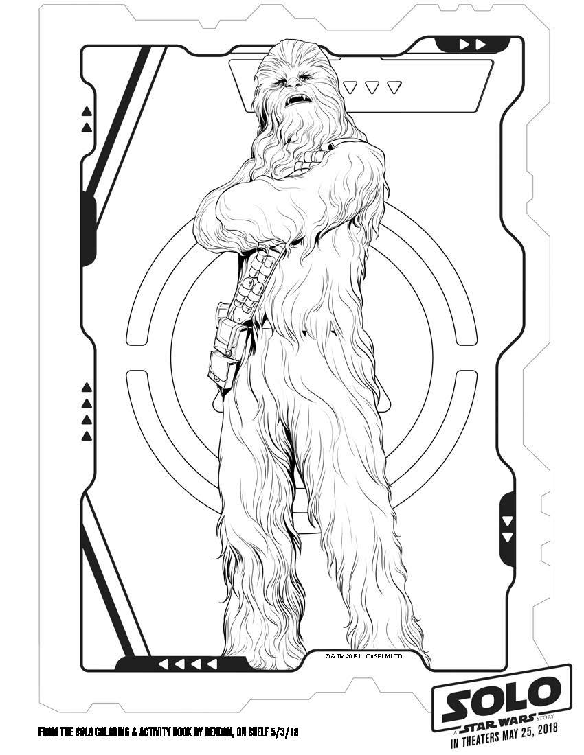 Solo a star wars story coloring pages and activity sheets for Han solo coloring page