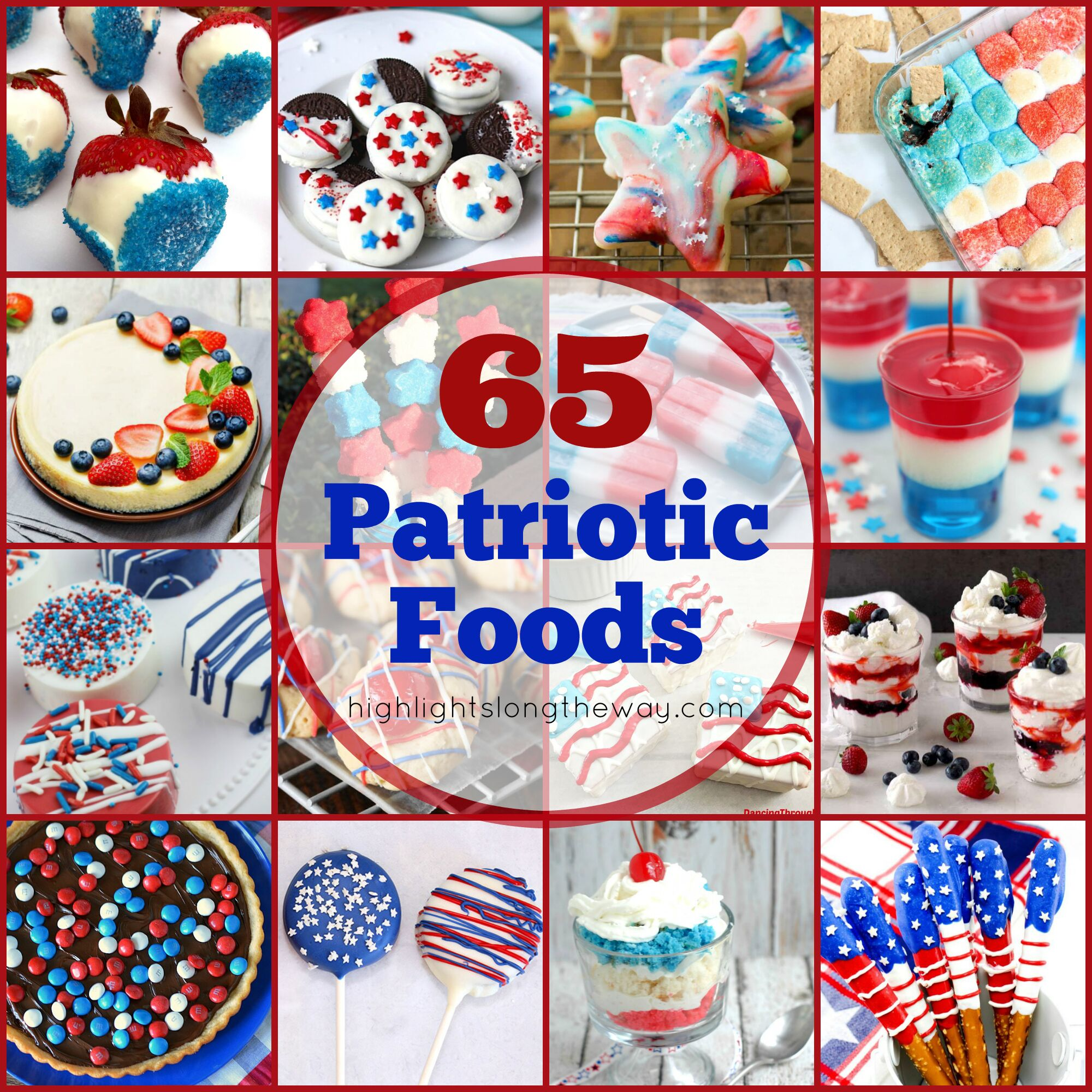 Red, White, and Blue Patriotic Food for your Party!
