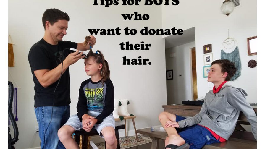 tips for boys that are considering donating their hair