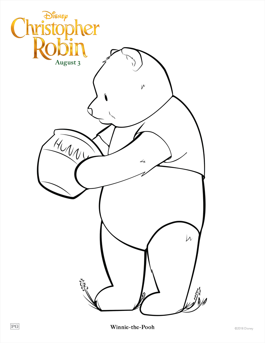 FREE Disney's Christopher Robin Coloring Sheets and ...