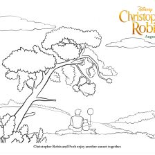Christopher Robin coloring page