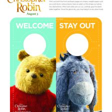 Christopher Robin door hanger