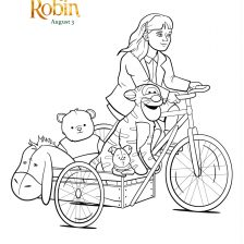 Christopher Robin Madeline coloring sheet