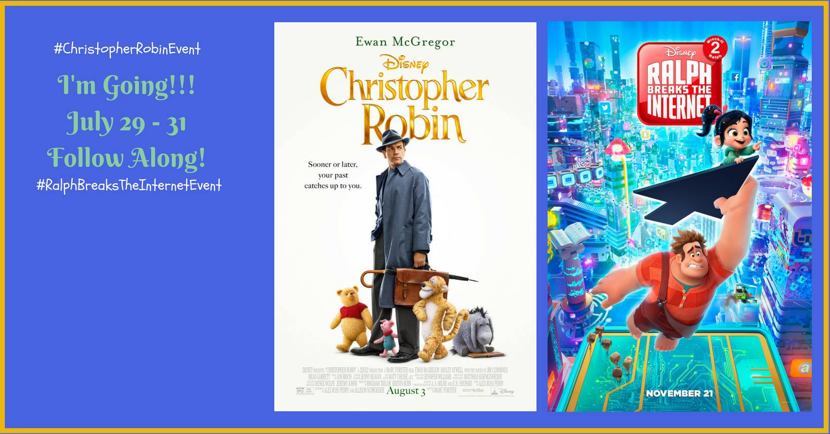I'll be in Los Angeles for the Christopher Robin premiere!