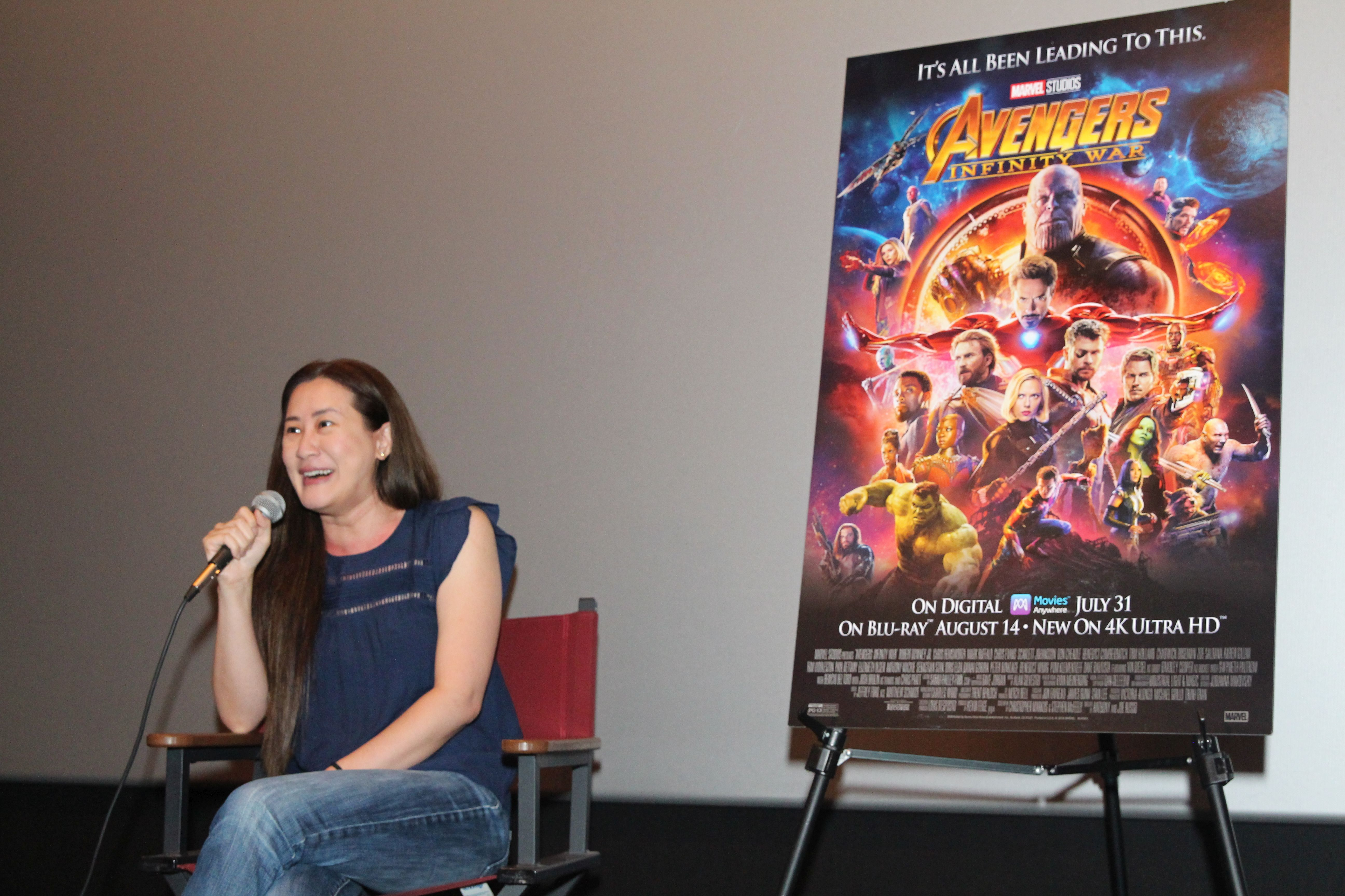 Madame Tussauds with The Avengers & Executive Producer Trinh Tran
