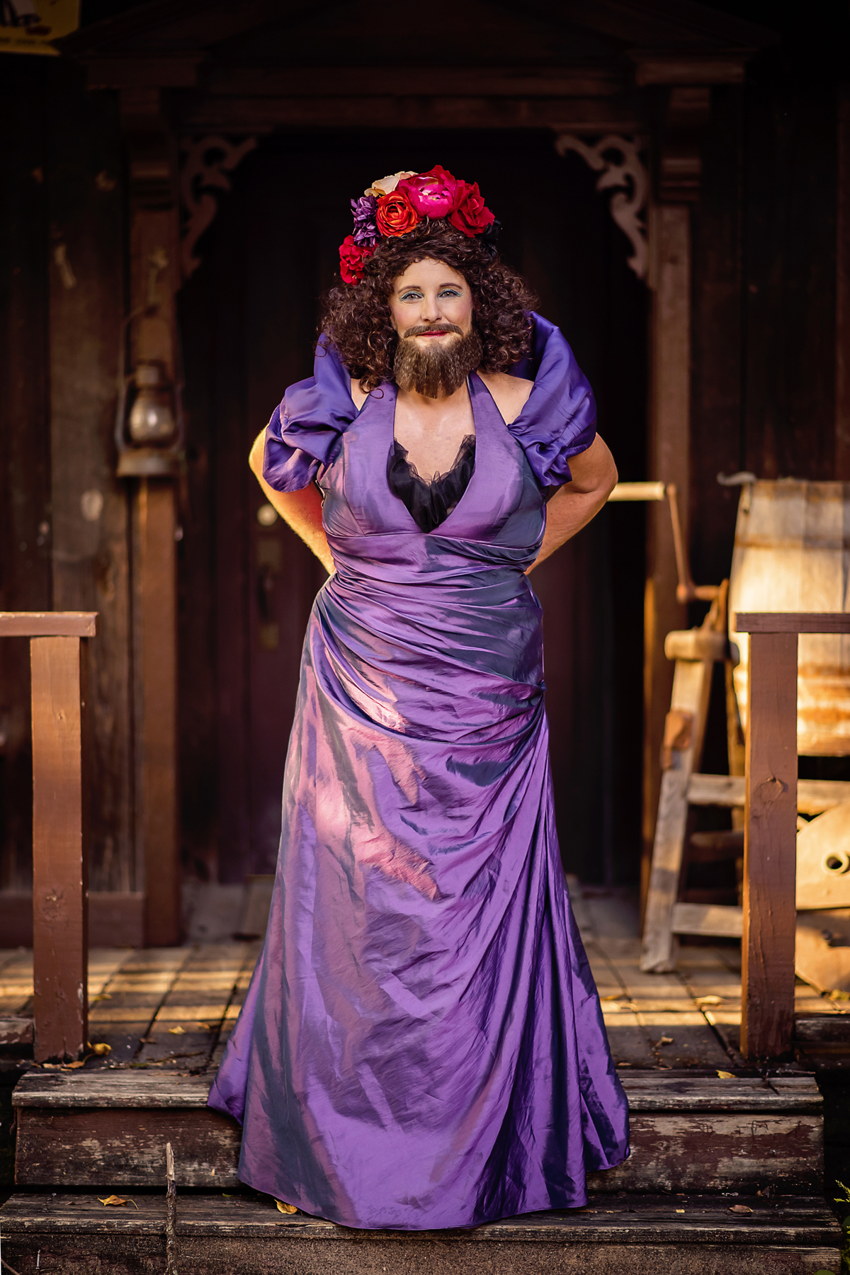 bearded lady greatest showman costume