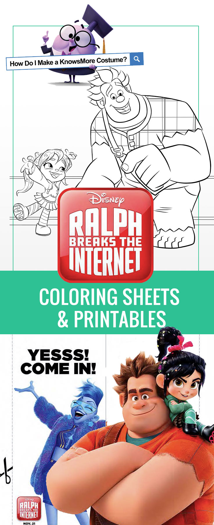 Ralph Breaks The Internet coloring sheets & printables