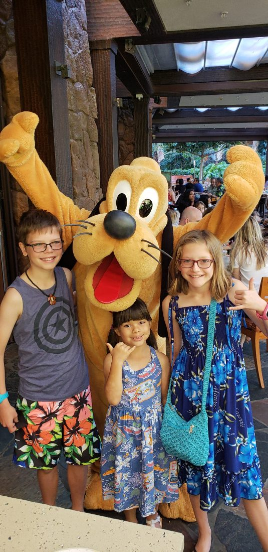 Meet Pluto at Aulani