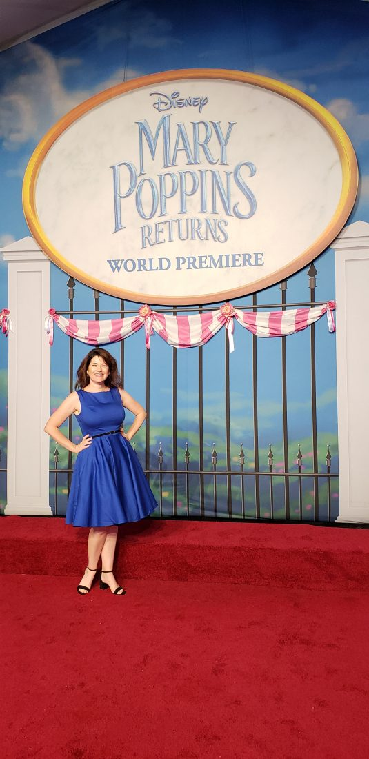 Mary Poppins Returns event dress