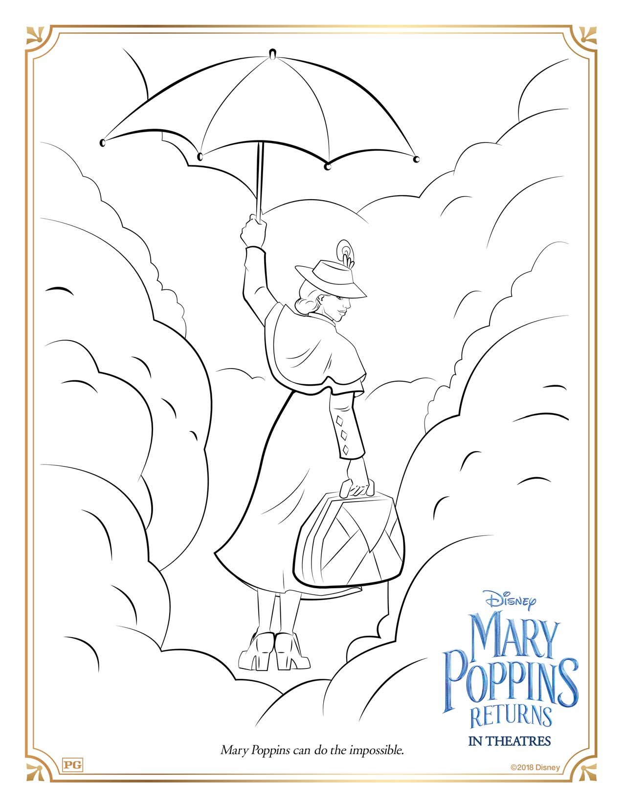 disney coloring pages mary poppins - photo#4