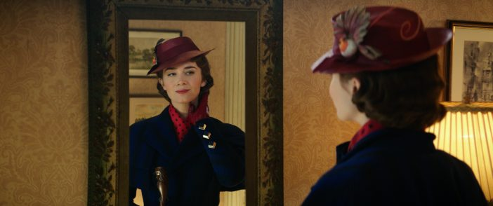 Mary Poppins Returns in mirror Emily Blunt
