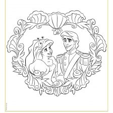 The Little Mermaid Ariel and Eric coloring sheet