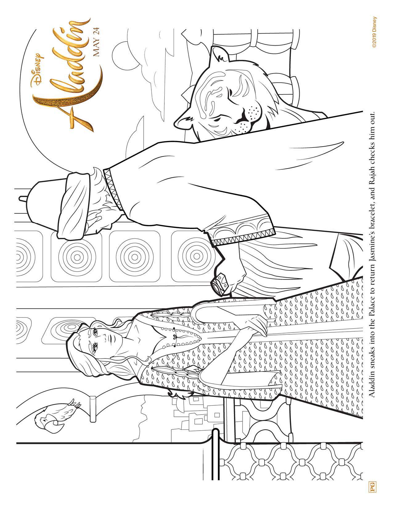 Aladdin Jasmine coloring pages