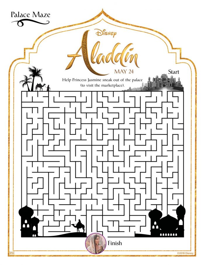 Aladdin Maze activity sheet
