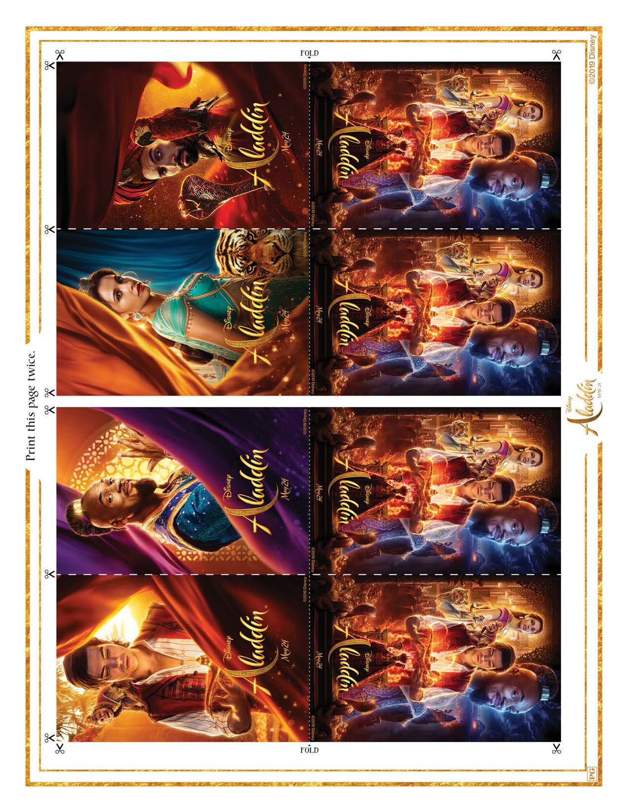 Aladdin card printables
