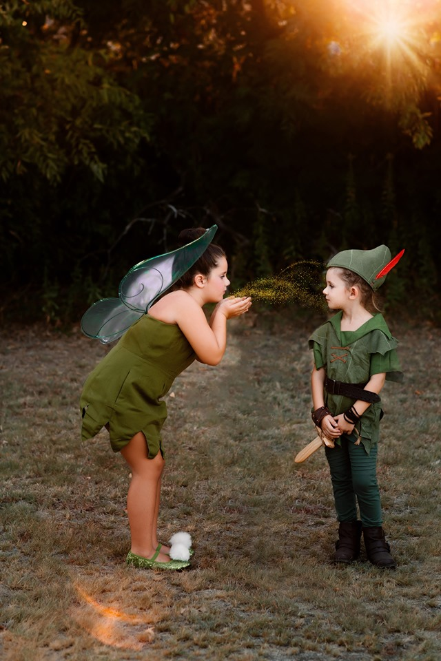 peter pan and tinker bell photo shoot