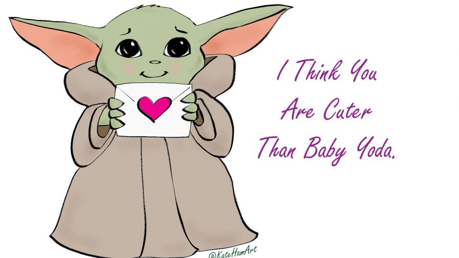 cuter than baby yoda valentine card free printable